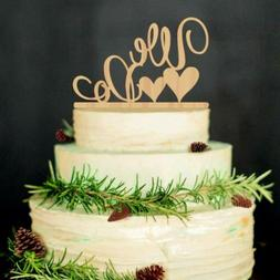 ROSENICE Wedding Cake Topper WE DO Wood Decorations