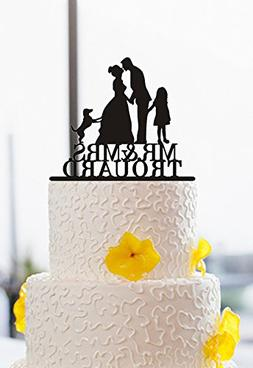 buythrow Wedding Cake Toppers Bride and Groom Kissing with D