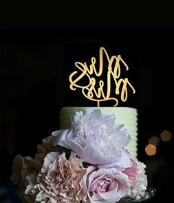 Wedding Cake Toppers Mr and Mrs for Cake Decorations Mirror