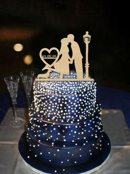 Buythrow® Wedding Decorations Cake Toppers Groom Kiss Bride