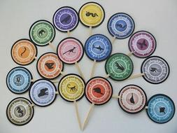 Wild kratts cupcake toppers/ cake decor/ party favors...SET