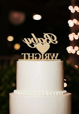 Buythrow® Wood Cake Topper Happy Birthday Party Decoration