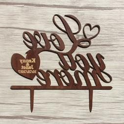 Buythrow® Wood Wedding Cake Topper Chic Gift For Love You M