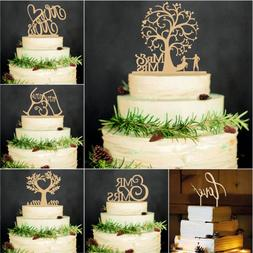 Wooden Wood Cake Topper Cake Decorations Wedding Supplies Br