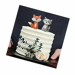 Woodland Fox Raccoon Cake Decoration Cake topper for Baby Sh