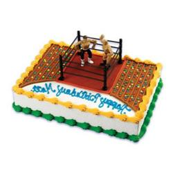 A Birthday Place Wrestlers and Wrestling Ring Cake Kit, Mult