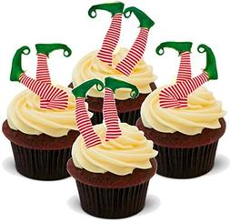 Xmas Elf Elves Legs Mix - Funny Elf Fell in the Cupcake Desi